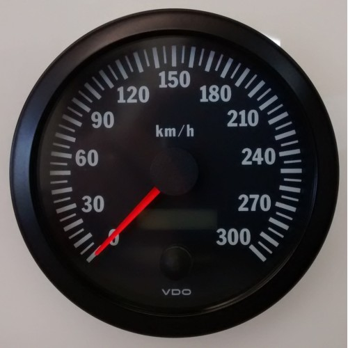 vdo 100mm electronic speedometer 300km h