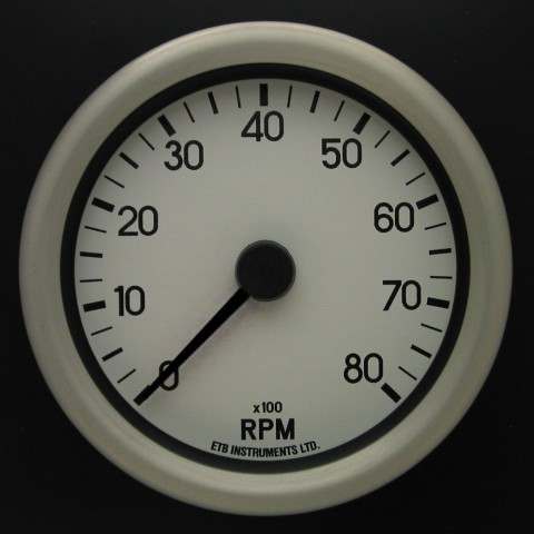 80mm Switchable Tachometer WD