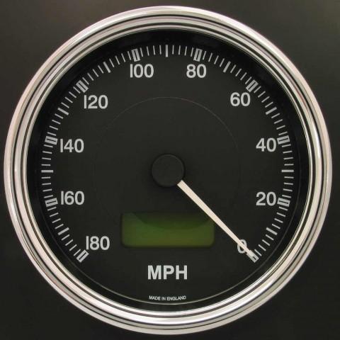 100mm Reverse Sweep Cobra Speedometer 180 MPH