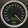 100mm Reverse Sweep Cobra Speedometer 300 Km/h