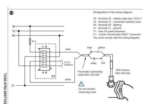 pyrometer sender wiring diagram  2002 kia rio speaker