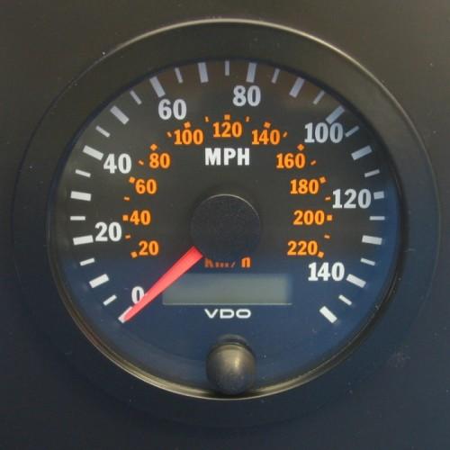 VDO 80mm Electronic Speedometer 140mph